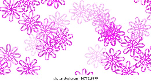 Light Pink vector natural artwork with flowers. Gradient colorful abstract flowers on simple background. Brand new business design.