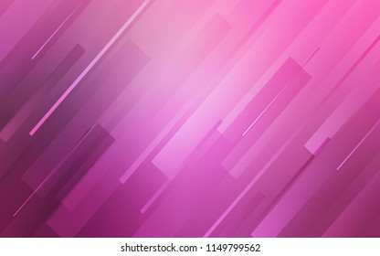 Light Pink vector pattern with sharp lines. Lines on blurred abstract background with gradient. Smart design for your business advert.