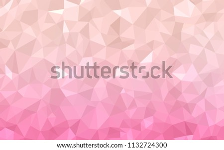 Light Pink Vector Polygon Abstract Background Stock Vector
