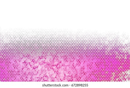 Light Pink vector polygonal illustration, which consist of hexagons. Hexagonal pattern for your business design. Geometric background in Origami style with gradient.