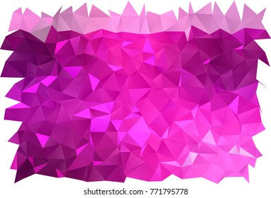 Light Pink vector polygonal pattern. A completely new color illustration in a vague style. The best triangular design for your business.