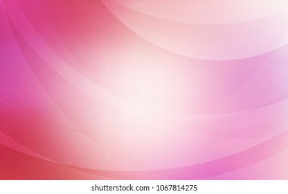 Light Pink vector template with lines, ovals. A vague circumflex abstract illustration with gradient. Brand-new design for your ads, poster, banner.