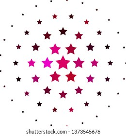 Light Pink vector texture with beautiful stars. Shining colorful illustration with small and big stars. Best design for your ad, poster, banner.