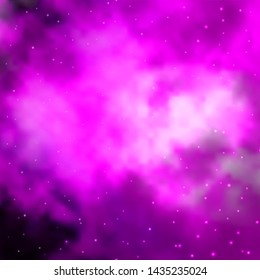 Light Pink vector texture with beautiful stars. Modern geometric abstract illustration with stars. Theme for cell phones.