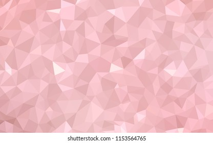 Light Pink vector triangle mosaic template. Modern abstract illustration with triangles. Triangular pattern for your design.