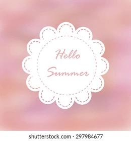 Light pink violet tone with retro vintage style and isolate in summer.Love hipster wedding card or bakery dessert menu