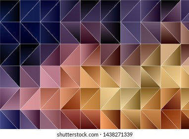 Light Pink, Yellow vector abstract polygonal background. Creative geometric illustration in Origami style with gradient. A completely new design for your leaflet.