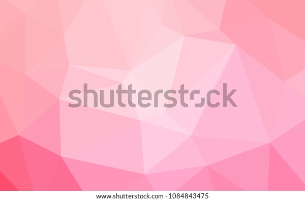 Light Pink, Yellow vector abstract mosaic backdrop. A sample with polygonal shapes. The polygonal design can be used for your web site.