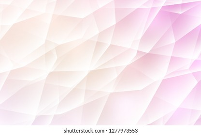 Light Pink, Yellow vector backdrop with lines, triangles. Modern abstract illustration with colorful triangles. Pattern for commercials.