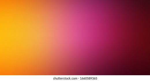 Light Pink, Yellow vector blurred colorful background. Colorful abstract illustration with gradient. Base for your app design.