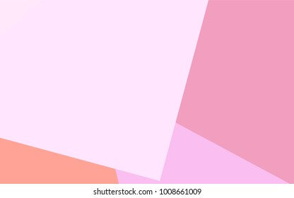 Light Pink, Yellow vector blurry rectangular background. Geometric background in square style with gradient. The pattern can be used for brand-new background.