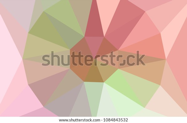 Light Pink, Yellow vector low poly texture with a diamond. Polygonal illustration, which consists of triangles. Brand new design for your business.