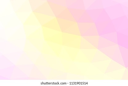 Light Pink, Yellow vector polygon abstract polygon abstract. A vague abstract illustration with gradient. The template can be used as a background for cell phones.