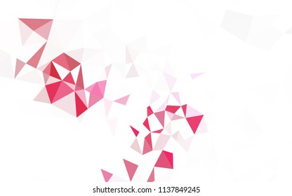 Light Pink, Yellow vector polygon abstract background. Elegant bright polygonal illustration with gradient. Triangular pattern for your design.