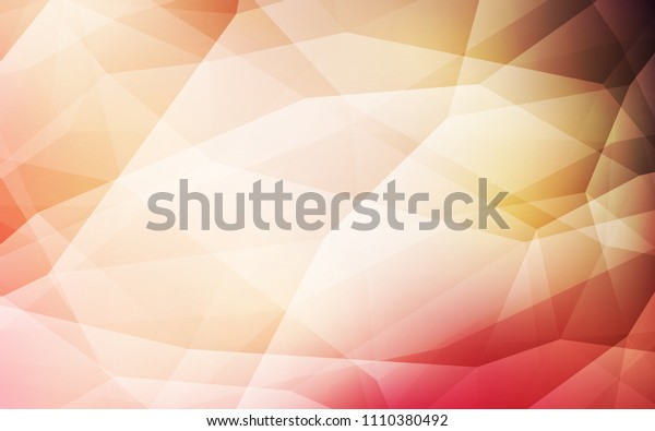 Light Pink, Yellow vector polygon abstract background. Colorful illustration in abstract style with triangles. Best triangular design for your business.