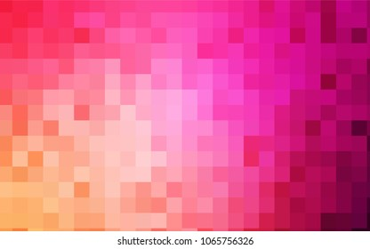 Light Pink, Yellow vector polygonal illustration consisting of rectangles. Rectangular design for your business. Creative geometric background in origami style with gradient.