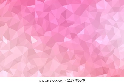 Light Pink, Yellow vector polygonal background. Shining polygonal illustration, which consist of triangles. A completely new design for your leaflet.