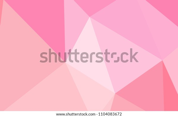 Light Pink, Yellow vector polygonal pattern. Glitter abstract illustration with an elegant triangles. Completely new template for your banner.