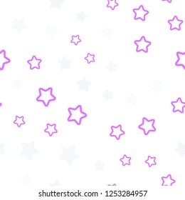 Light Pink, Yellow vector seamless pattern with christmas stars. Blurred decorative design in simple style with stars. Texture for window blinds, curtains.