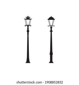 Light poles Vector icon design illustration Template