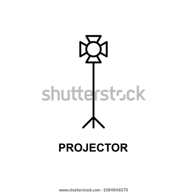 light projector icon. Element of cinema for mobile concept and web apps. Thin line light projector icon can be used for web and mobile. Premium icon on white background