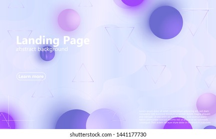 Light purple background. Violet soft backdrop. Website template. Web design landing page. Vector illustration.