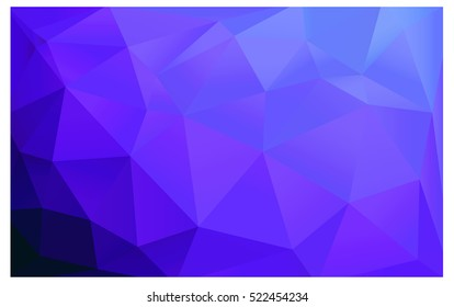 Light Purple Low poly crystal background. Polygon design pattern. Low poly vector illustration, low polygon background.