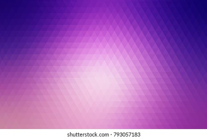Light Purple, Pink vector abstract mosaic pattern. A sample with polygonal shapes. Brand-new style for your business design.