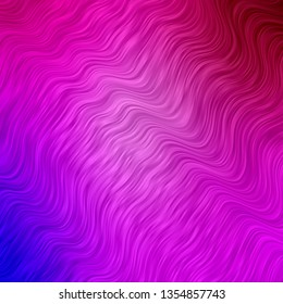 Light Purple, Pink vector background with bent lines. Gradient illustration in simple style with bows. Pattern for booklets, leaflets.