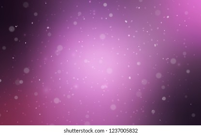 Light Purple, Pink vector cover with beautiful snowflakes. Modern geometrical abstract illustration with crystals of ice. The pattern can be used for new year ad, booklets.