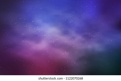 Light Purple, Pink vector layout with cosmic stars. Space stars on blurred abstract background with gradient. Smart design for your business advert.
