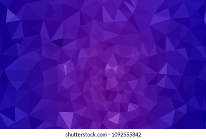 Light Purple, Pink vector Low poly crystal background. Polygon design pattern. Low poly illustration, low polygon background.