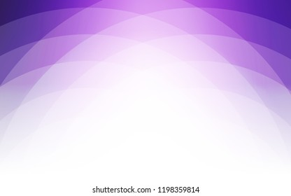 Light Purple, Pink vector pattern with curved circles. Modern gradient abstract illustration with bandy lines. Textured wave pattern for backgrounds.