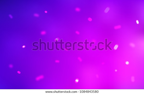 Light Purple, Pink vector pattern with christmas snowflakes. Decorative shining illustration with snow on abstract template. The template can be used as a new year background.