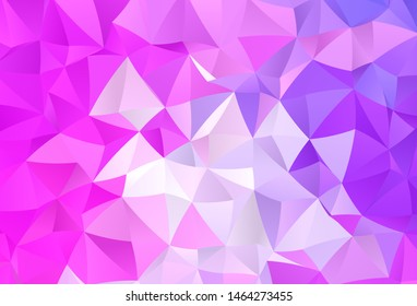 Light Purple, Pink vector polygon abstract backdrop. Modern abstract illustration with triangles. Brand new style for your business design.