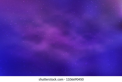 Light Purple, Pink vector template with space stars. Blurred decorative design in simple style with galaxy stars. Smart design for your business advert.