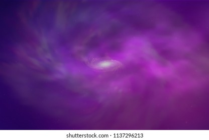 Light Purple, Pink vector template with space stars. Shining illustration with sky stars on abstract template. Best design for your ad, poster, banner.