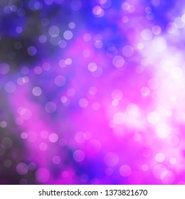 Light Purple, Pink vector template with circles. Abstract decorative design in gradient style with bubbles. Design for posters, banners.