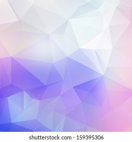 Light purple soft subtle vector abstract polygonal background. Modern and trendy geometric pattern. Smooth and light tones. For contemporary web and print design.
