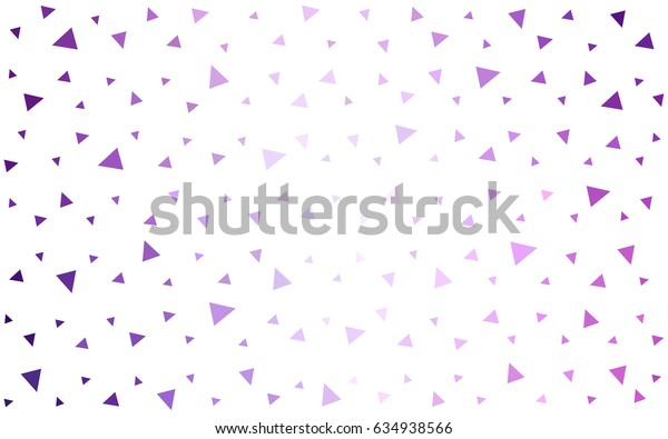 Light Purple vector abstract colorful background, which consist of triangles. Pattern with colored triangles on white background.