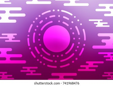 Light Purple vector abstract doodle background. Creative illustration in blurred style with doodles and Zen tangles. Hand painted design for web, wrapping, wallpaper.