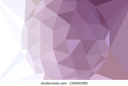 Light Purple vector abstract mosaic backdrop with a diamond. A sample with polygonal shapes. Brand new design for your business.