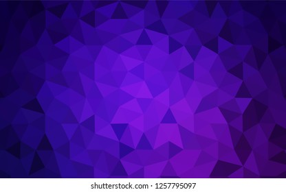 Light Purple vector abstract polygonal template. Creative illustration in halftone style with triangles. Triangular pattern for your design.