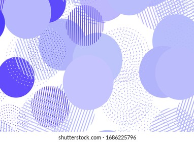 Light Purple vector background with spots. Blurred decorative design in abstract style with bubbles. Pattern for ads, leaflets.