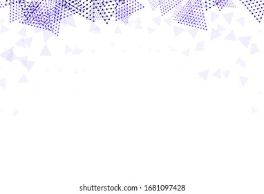 Light Purple vector background with triangles, circles. Circles, lines on abstract background with colorful gradient. Pattern for commercials.