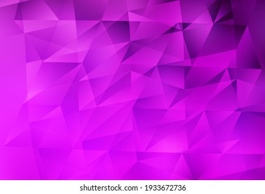 Light Purple vector background with triangles. Beautiful illustration with triangles in nature style. Pattern for booklets, leaflets