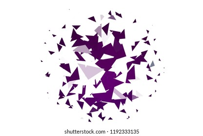Light Purple vector geometric simple minimalistic background, which consist of triangles on white background. Triangular pattern with gradient for your business design.