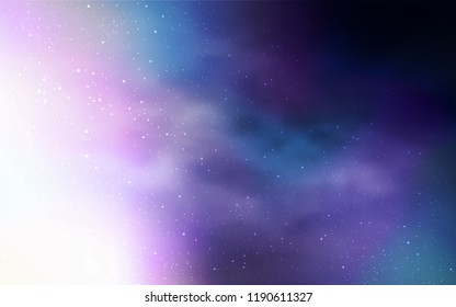 Light Purple vector layout with cosmic stars. Glitter abstract illustration with colorful cosmic stars. Pattern for astrology websites.