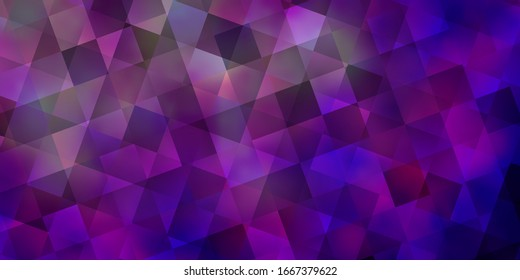 Light Purple vector layout with rectangles, triangles. Lines, rhombus with colorful gradient. Template for landing pages.