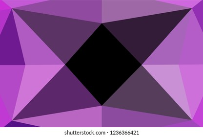 Light Purple vector low poly cover. A sample with polygonal shapes. The polygonal design can be used for your web site.